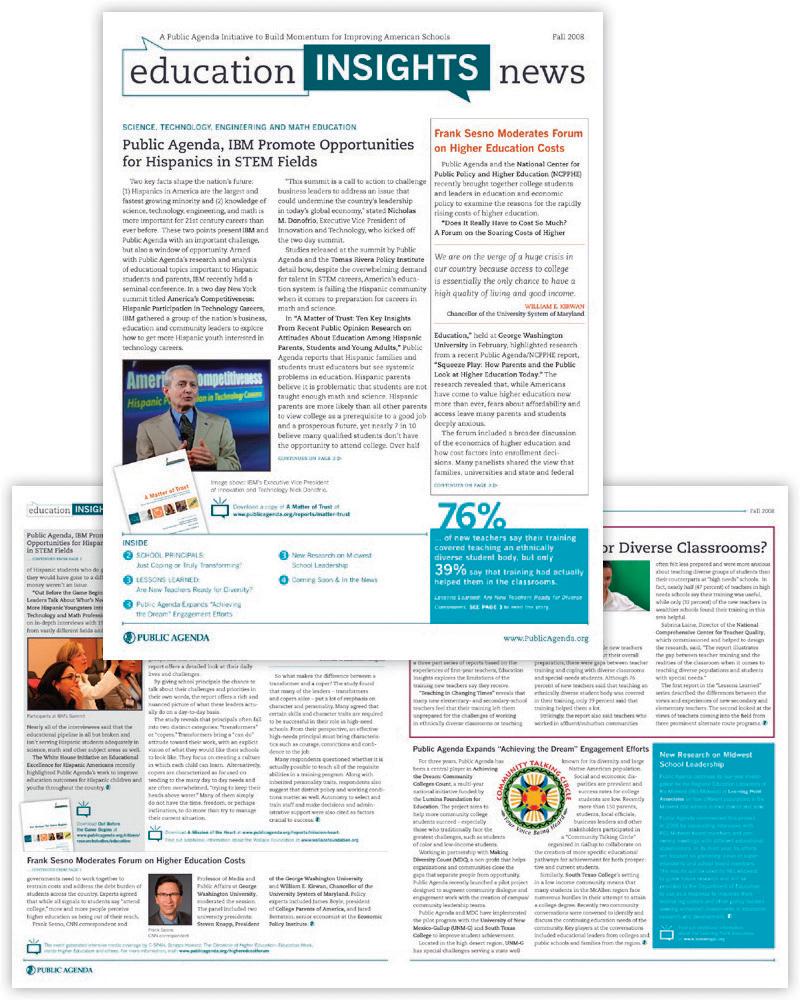 Public Agenda's Education Insights Newsletter