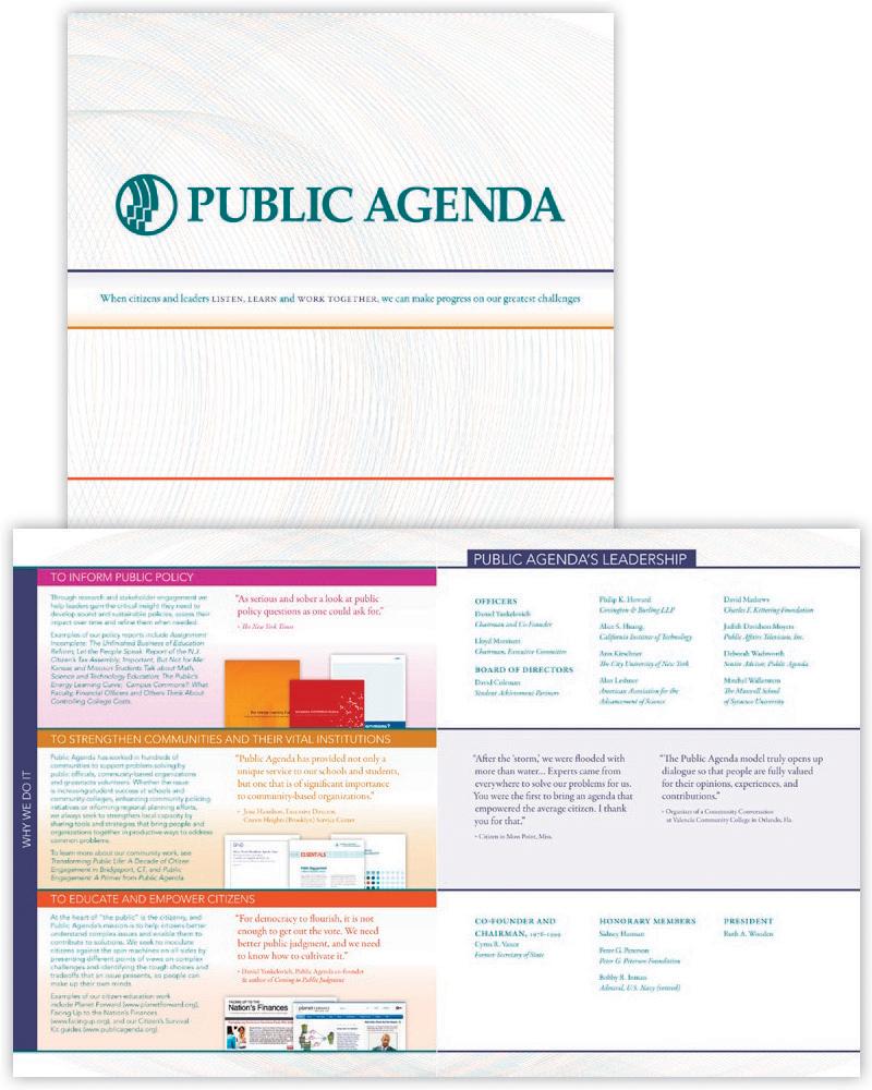 Public Agenda Media Kit Brochure