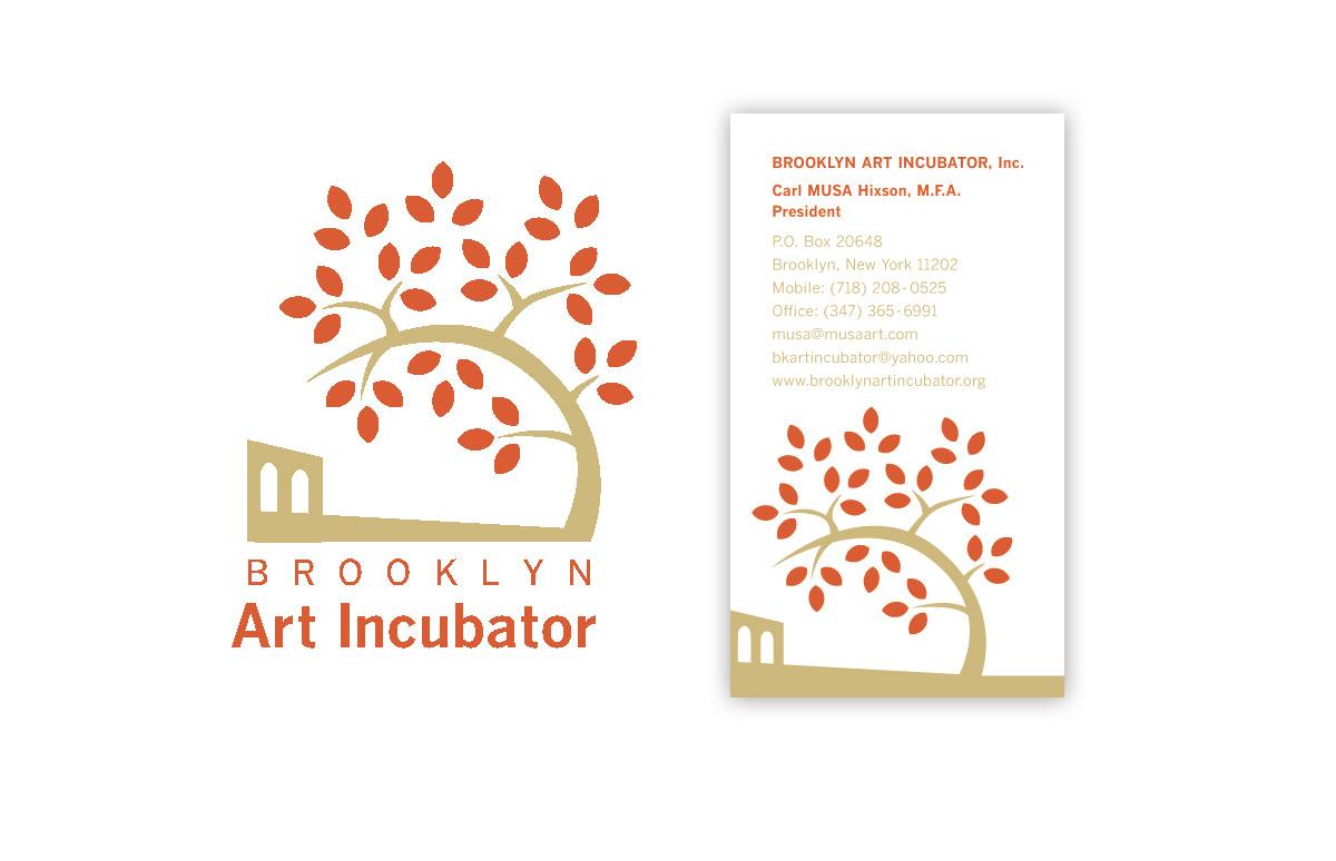 Brooklyn Art Incubator Logo and Business Card